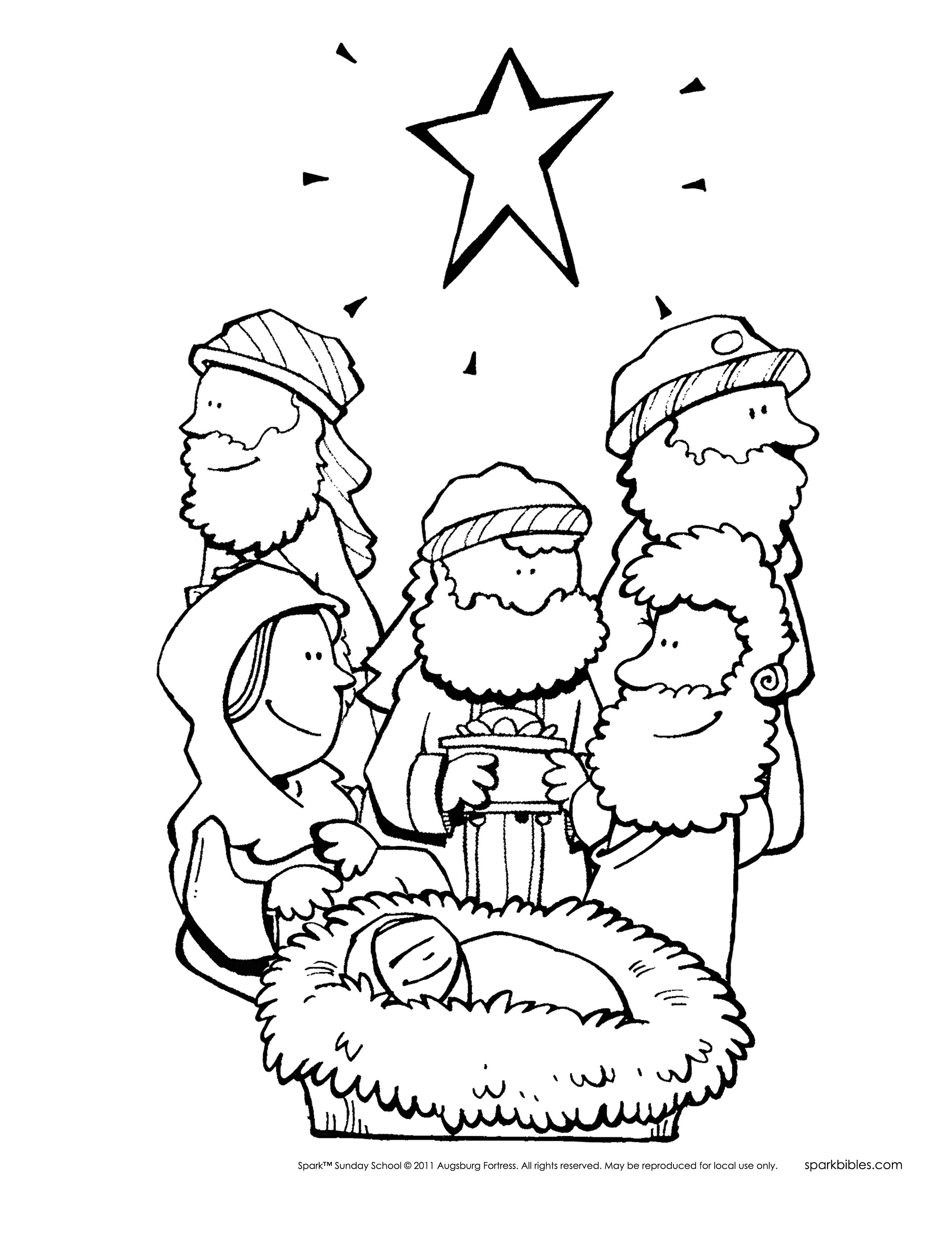Spark story bible poster pack for Christmas bible coloring pages