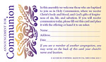 Announcement for Communion (Registration Card with Belief Statement), 100/pkg