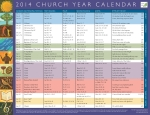 Church Year Calendar 2014, Year A