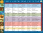 Church Year Calendar 2015, Year B