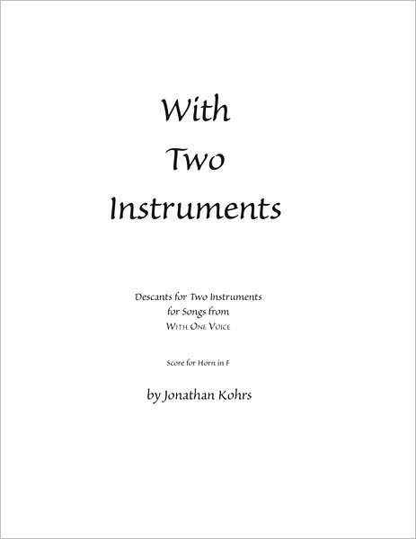 With Two Instruments: Descants for Two Instruments (Horn in F)