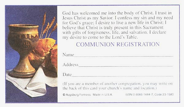Registration Card (Communion), 100/pkg