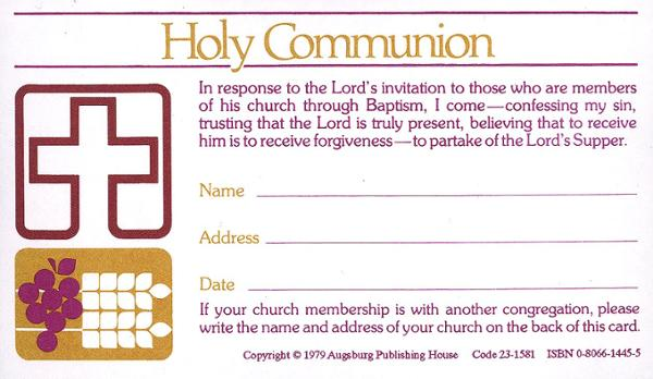 Holy Communion Card, 100/pkg