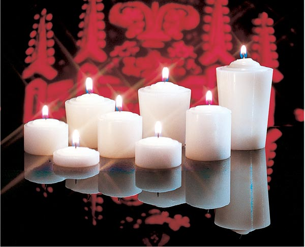 Votive Lights: 6 Hour, Straight Side (box of 144)