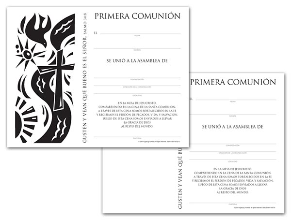 Certificate Download, First Communion (Spanish)