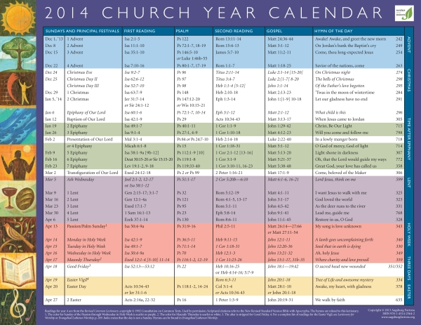 Church Year Calendar : Church calendar colors search results