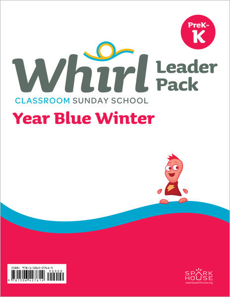 Whirl Classroom Year Blue Winter Grades PreK-K Leader Pack