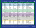 Church Year Calendar 2018, Year B