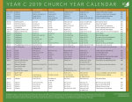 Church Year Calendar 2019, Year C