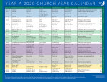 Church Year Calendar 2020, Year A: Downloadable