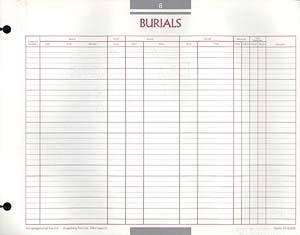 Burials Congregational Record