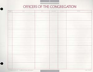 Officers of the Congregation Congregational Record