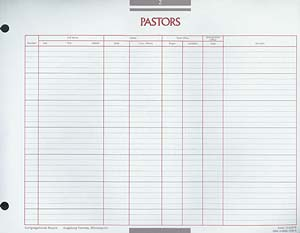 Pastors of the Congregation Congregational Record