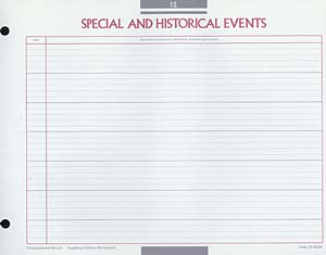 Special and Historical Events Congregational Record