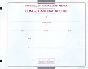 Title page: Congregational Record