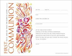 Community First Communion Certificate: Quantity per package: 12