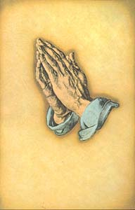 Praying Hands: Funeral Bulletin, Regular Size: Quantity per package: 100