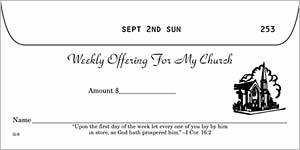 Stock Church Boxed Offering Envelope: currency size