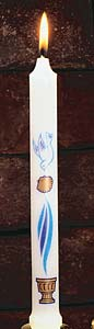 Dove and Shell First Light (Spanish) Baptismal Candle