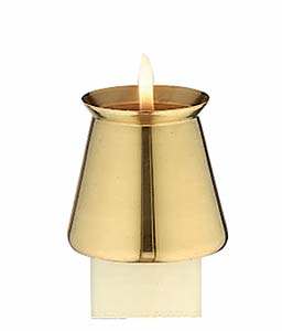 Thin Brass Candle Follower: Fits 7/8 in. diameter