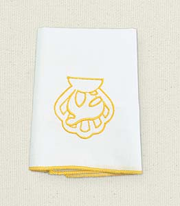 Shell & Dove Baptismal Towel