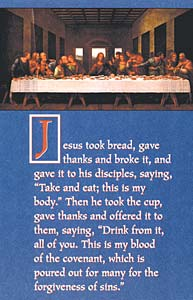 Last Supper: Communion Bulletin: Quantity per package: 100