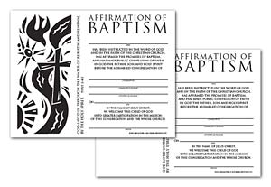 Certificate Download, Affirmation of Baptism (English)