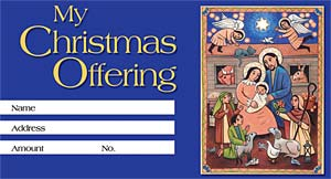 Joy to the World: Christmas Offering Envelope: Quantity per package: 100