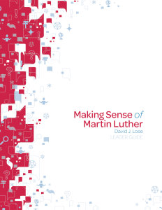 Making Sense of Martin Luther Leader Guide