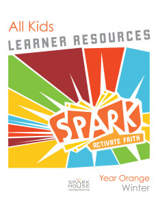 Spark All Kids / Year Orange / Winter / Grades K-5 / Learner Pack
