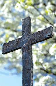 Raised Cross Bulletin, Regular Size: Quantity per package: 100