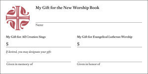 Evangelical Lutheran Worship and All Creation Sings Offering Envelope: 100 per box