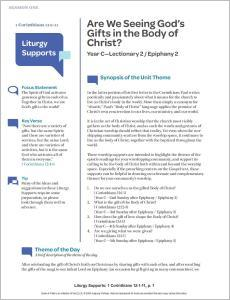 Being The Body of Christ Liturgy and Preaching Supports: Studies in 1 Corinthians