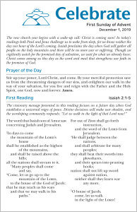 Celebrate Lectionary Insert