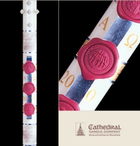 Anno Domini Paschal Candle: 2-1/2 x 36, Plain End