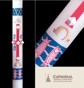 Benedictine Paschal Candle, Plain End