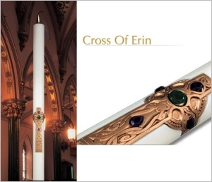 Cross of Erin Eximious Paschal Candles, Plain End