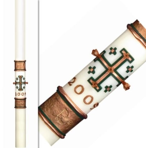 Spirit of Jerusalem Eximious Paschal Candles, Plain End
