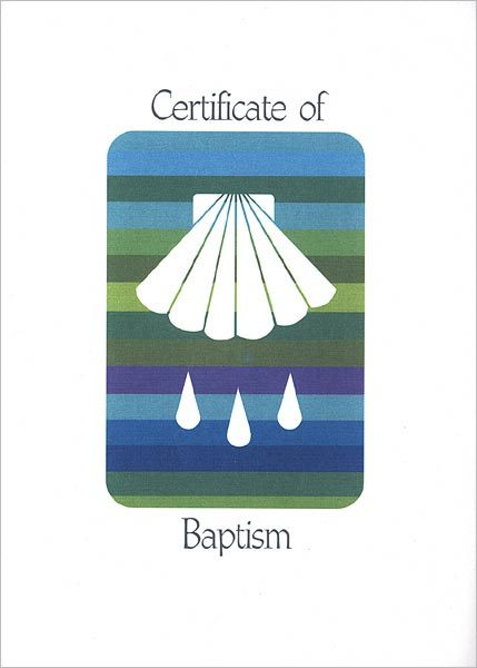 Rainbow Baptism Certificate: Quantity per package: 12
