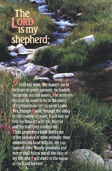 The Lord is My Shepherd: Funeral Bulletin: Quantity per package: 100