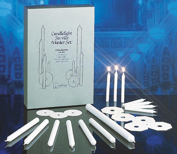 Extra Congregation Candles, 5'' for Candlelight Service Master Sets: 100 extra candles & Drip Protectors