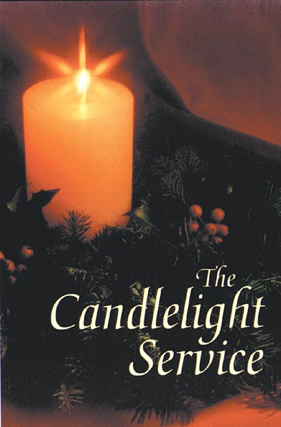The Candlelight Service: Christmas Bulletin - Preprinted: Quantity per package: 100