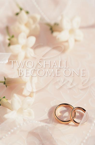 Two Shall Become One: Wedding Bulletin: Quantity per Package: 100
