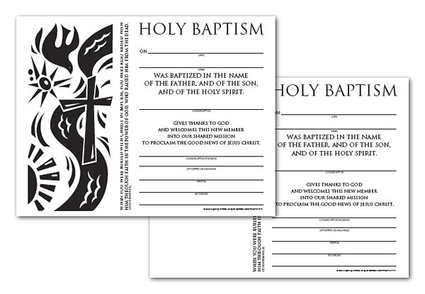 Certificate Download, Adult Baptism (English)