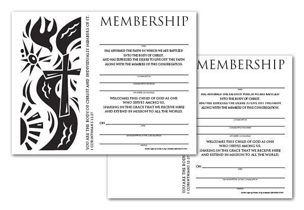 Certificate Download, Membership (English)
