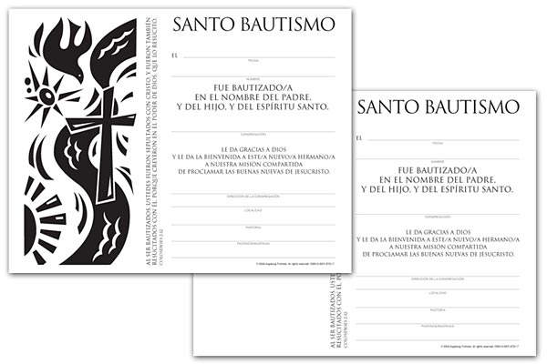 Certificate Download, Adult Baptism (Spanish)