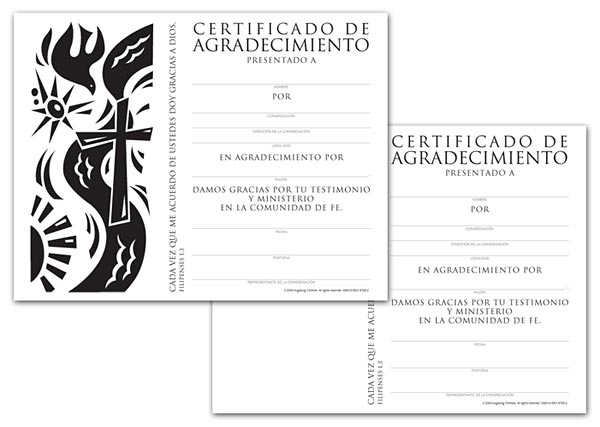 Certificate Download, Appreciation (Spanish)
