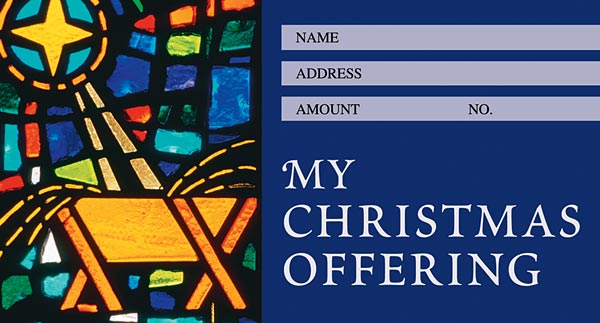 Contemporary Style: Christmas Offering Envelope: Quantity per package: 100