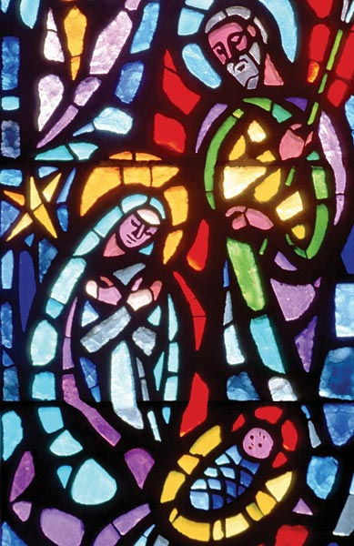 christmas with stained glass  christmas bulletin  regular