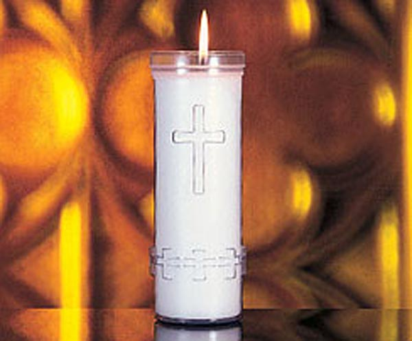 7-Day Sanctuary Candle: Plastic container, 24/case